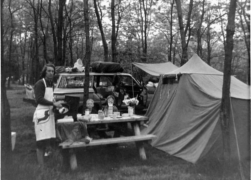1963 Bleakney family camping trip