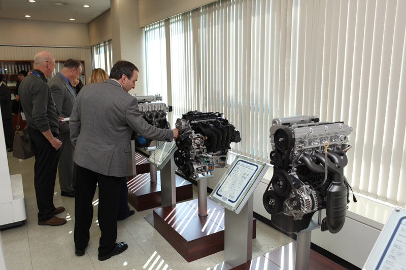 Historic engine display at Namyang technical research centre